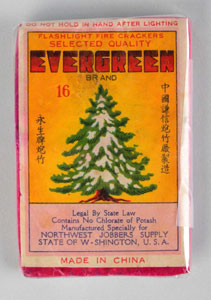 Evergreen 16-pack firecracker. Est. $500-$1,000. Morphy Auctions image.