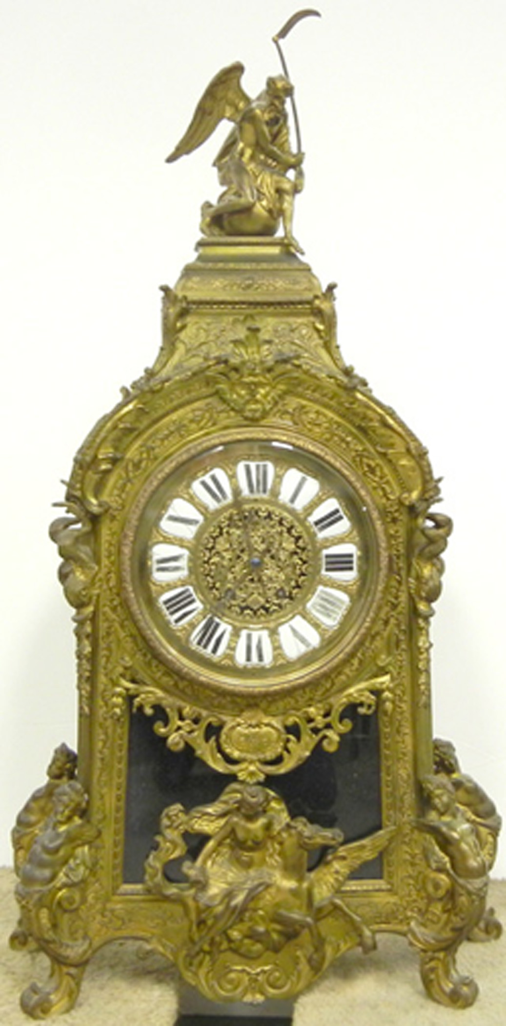 Tiffany & Co. brass-cased clock. Stephenson's image.