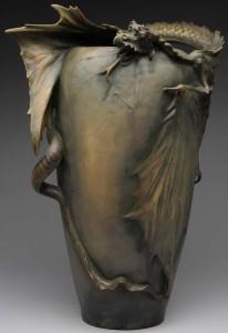 Amphora ceramic dragon vase