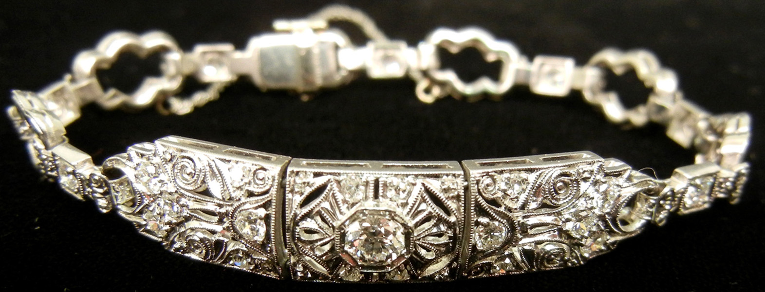 Platinum and diamond bracelet. Stephenson's image.
