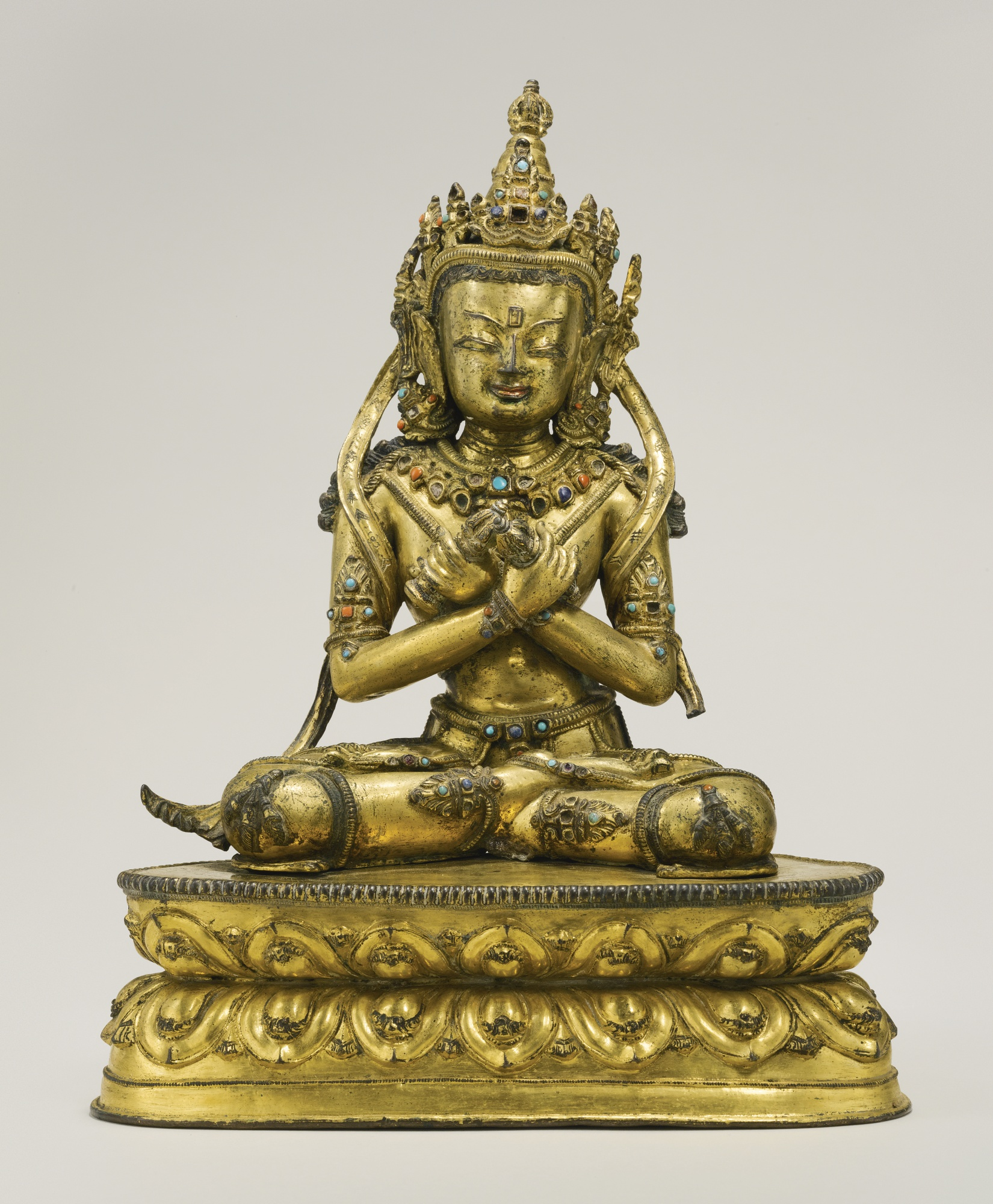 A Gilt Copper Alloy Figure Depicting Vajradhara