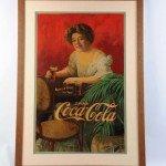 Rare, large 1909 Coca-Cola cardboard poster