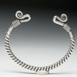 Viking silver bracelet, northern Europe, 9th-12th century CE, found in Great Britain, estimate $2,000-$3,000.