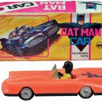 Boxed roaring-engine Batman car, FMG Japan, est. $1,500-$2,000