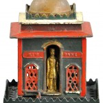 Circa-1870s J. & E. Stevens 'New Bank' mechanical bank, est. $1,600-$2,000